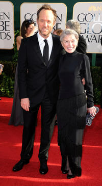 John Benjamin Hickey and Phyllis Somerville at the 68th Annual Golden Globe Awards in California.
