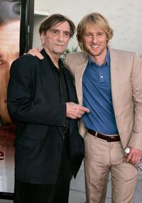 Harry Dean Stanton and Owen Wilson at the premiere of