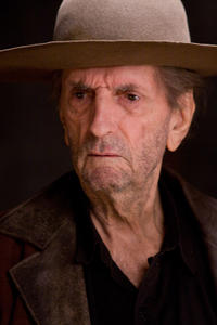 Harry Dean Stanton on the set of