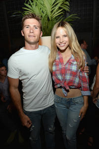 Scott Eastwood and Halston Sage at the Abercrombie & Fitch's 2013 Stars on the Rise in California.