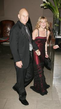 Patrick Stewart and Lisa Dillon at The Orange British Academy Film Awards after show party.