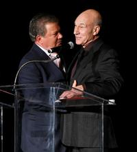 Patrick Stewart and William Shatner at the 15th Jules Verne aventures film festival.