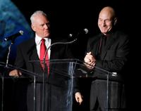 Patrick Stewart and Malcolm McDowell at the 15th Jules Verne aventures film festival.