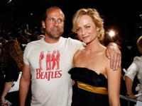 Peter Stormare and Amber Valletta at the premiere of