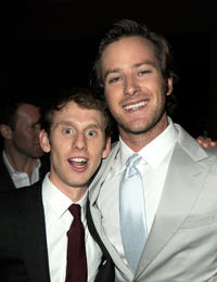 Robert Emms and Armie Hammer at the after party of the California premiere of