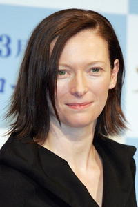 """Tilda Swinton at a press conference promoting the film """"The Chronicles Of Narnia"""" in Tokyo, Japan."""