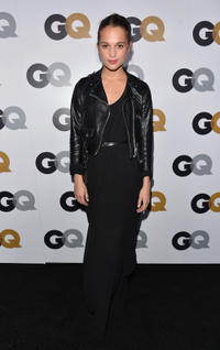 Alicia Vikander at the GQ Men of the Year Party in California.
