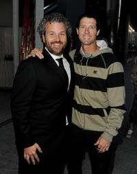 Jacob Rosenberg and skater Danny Way at the California premiere of