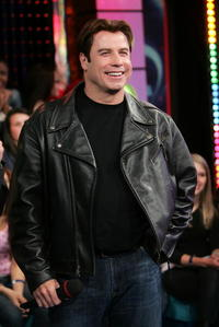 John Travolta during MTV's Total Request Live at the MTV Times Square Studios in N.Y.