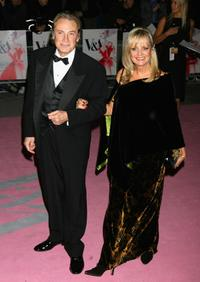 Twiggy and guest at the Golden Age Of Couture party.