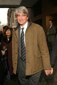 Sam Waterston at the funeral for Jerry Orbach at Riverside Chapel.