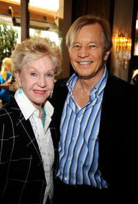 Pat York and Michael York at the UK Film Council US Post Oscars Brunch.
