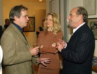 Tony Bill, Fiona Lewis and her husband Art Linson at the Los Angeles home of Scott Burgh and Kevin McCormick to celebrate the release of