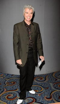 David Byrne at the opening of