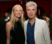 Maggie Rizer and David Byrne at the Viva Glam Casino To Benefit DIFFA for AIDS research.