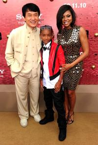 Jackie Chan, Jaden Smith and Taraji P. Henson at the after party of the California premiere of