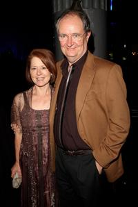 Jim Broadbent and his wife Anastasia Lewis at the after party following the premiere of