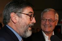 Roger Corman and John Landis at the special screening of