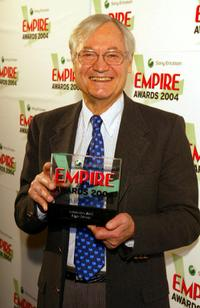Roger Corman with his award for Independent Spirit in the pressroom at the