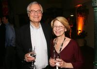 Roger Corman and President and CEO of the Independent Film & Television Alliance Jean Prewitt at the IFTA members reception.
