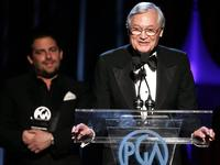 Roger Corman and Brett Ratner at the 2006 Producers Guild awards.