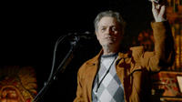 Director Jonathan Demme on the set of