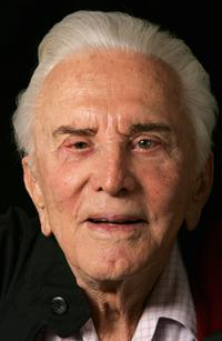 Kirk Douglas at a portrait session before signing copies of his new book