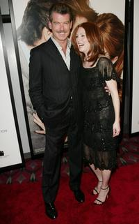 Pierce Brosnan and Julianne Moore at the New York premiere of