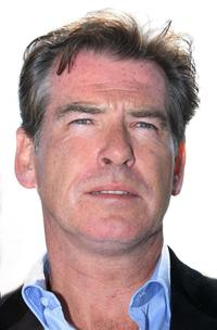 Pierce Brosnan at the press conference for Terminate The Terminal at the Malibu Pier.