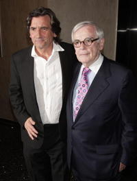 Griffin Dunne and Dominick Dunne at the premiere of