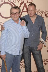 Milos Forman and Stellan Skarsgard at the Madrid premiere of