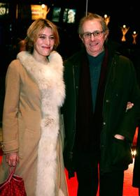 Valeria Bruni-Tedeschi and Ken Loach at the 55th annual Berlinale International Film Festival premiere of