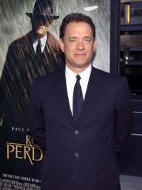 """Tom Hanks at the premiere of the film """"Road To Perdition"""" in Beverly Hills."""