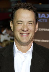 """Tom Hanks at the premiere of """"Apollo 13 - The IMAX Experience"""" in Los Angeles."""