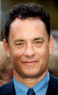 """Tom Hanks at the film premiere of """"Band Of Brothers"""" in Los Angeles, CA."""