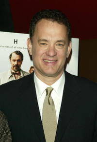 """Tom Hanks at a private screening of """"The Ladykillers"""" in New York City."""