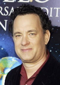 """Tom Hanks at Universal Home Studio's 35 Anniversary salute and DVD release of """"Apollo 13"""" in Los Angeles."""