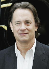 """Tom Hanks at a photocall for """"The Da Vinci Code"""" in London, England."""