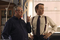 Director Mike Nichols and Tom Hanks on the set of