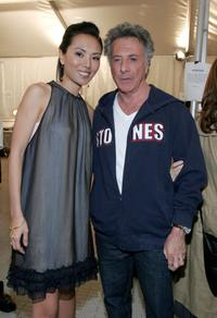 Dustin Hoffman and Vivian Lee at the Monarchy Collection Fall 2007 fashion show.