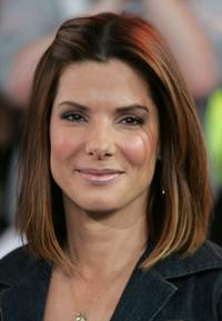 Sandra Bullock at the MTV's Total Request Live.