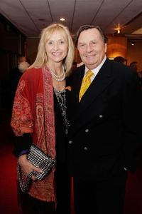 Lizzie Spender and Barry Humphries at the AMPAS Centennial Tribute to Johnny Mercer.