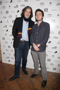 Steve Marmion and Tom Burke at the Old Vic's 24 Hour Musicals Celebrity Gala 2012 in London.