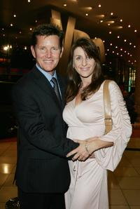 Tom Burlinson and Mandy at the opening night of