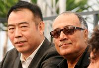 Chen Kaige and Abbas Kiarostami at the photocall for the film