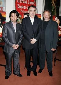 Chen Kaige, Hiroyuki Sanada and Ernst Etchie Stroh at the Los Angeles premiere of