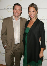 Ed Burns and Christy Turlington at the 2005 Benefit for Beth Israel's Continuum Center in New York City.
