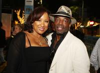 Levar Burton and his wife Stephanie at the premiere of