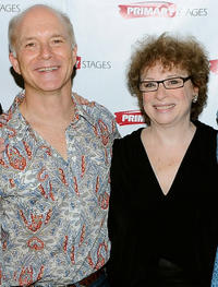 Dan Butler and Marcia Jean Kurtz at the after party of the opening night of
