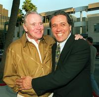 Jack Lemmon and Edward James Olmos at the Academy of Motion Picture Arts and Sciences premiere of